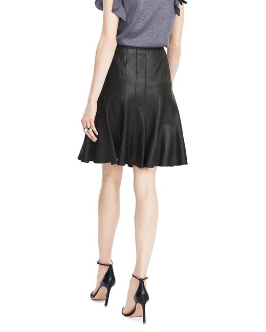 banana republic limited edition pleated leather skirt in