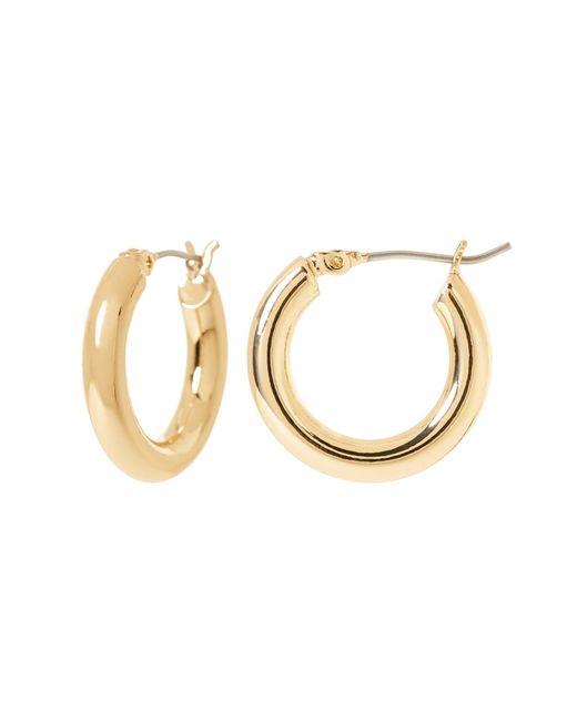 Banana Republic - Metallic Small Hollow Hoop Earrings - Lyst