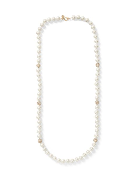 Banana Republic - Multicolor Pearl Pave Long Necklace - Lyst