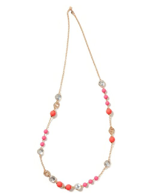 Banana Republic - Pink Crystal Bauble Necklace - Lyst