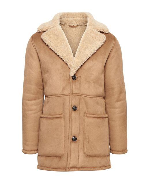 8d3e0248871 Banana Republic - Brown Japan Exclusive Faux Shearling Coat for Men - Lyst