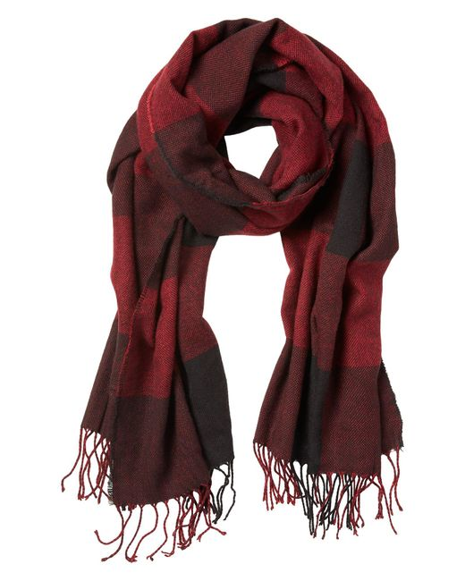 Banana Republic Factory - Red Buffalo Plaid Scarf for Men - Lyst