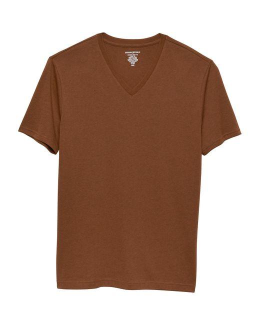 Banana Republic Factory - Brown Premium Wash Vee T Shirt for Men - Lyst