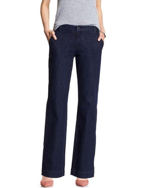Banana Republic Factory - Blue Rinse Trouser Jean - Lyst