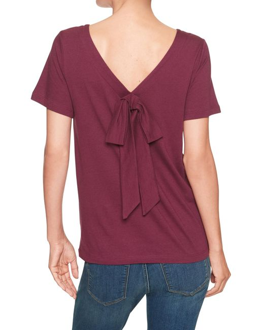 Banana Republic Factory - Red Bow Back Designer T Shirt - Lyst