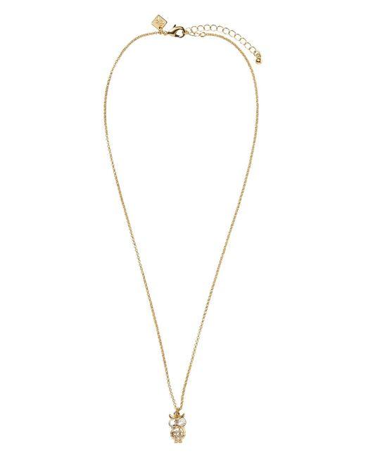 Banana Republic Factory - Metallic Owl Pendant Necklace - Lyst