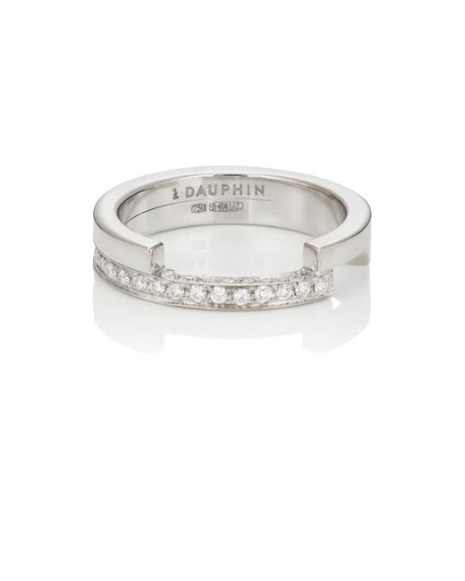 Dauphin - Metallic White Diamond Ring - Lyst