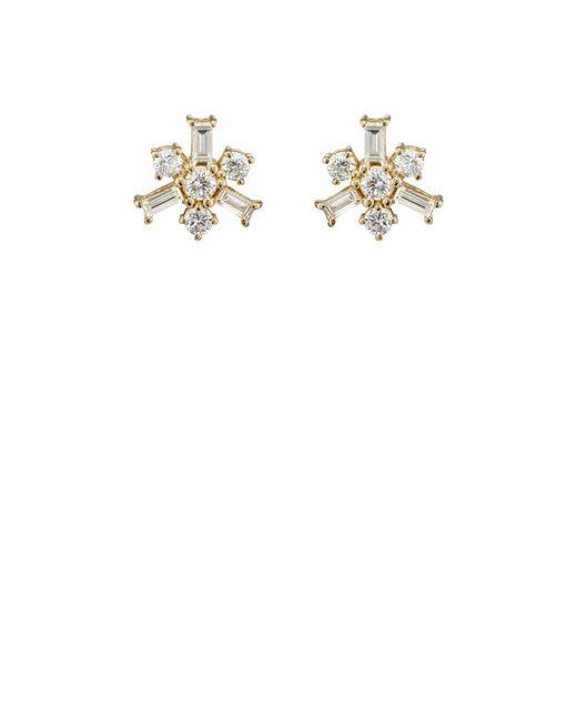 Ileana Makri | White Snowflake Stud Earrings | Lyst