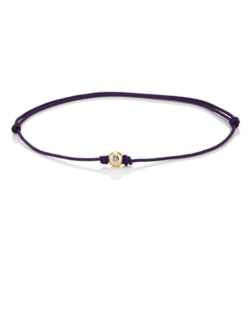 Luis Morais - Purple Diamond-studded Yellow Gold Bead On Cord Bracelet for Men - Lyst
