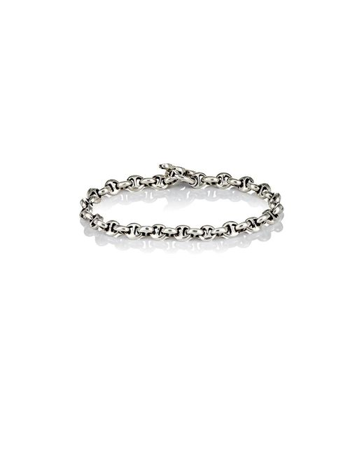 Hoorsenbuhs - Metallic Diamond & Silver 'h' Chain-link Bracelet for Men - Lyst