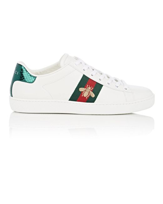 b5049c4ca Gucci New Ace Leather Sneakers in White - Save 5% - Lyst