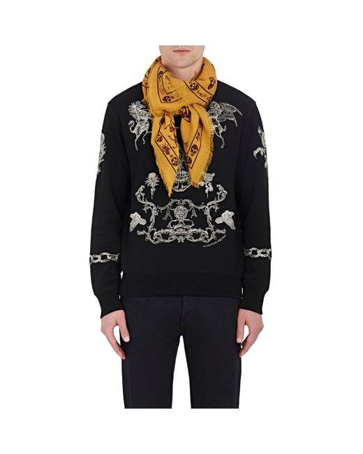 Alexander McQueen   Black Mixed-print Wool for Men   Lyst