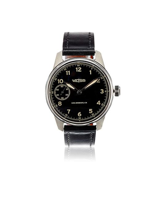 Weiss | Black Limited Issue Field Watch for Men | Lyst