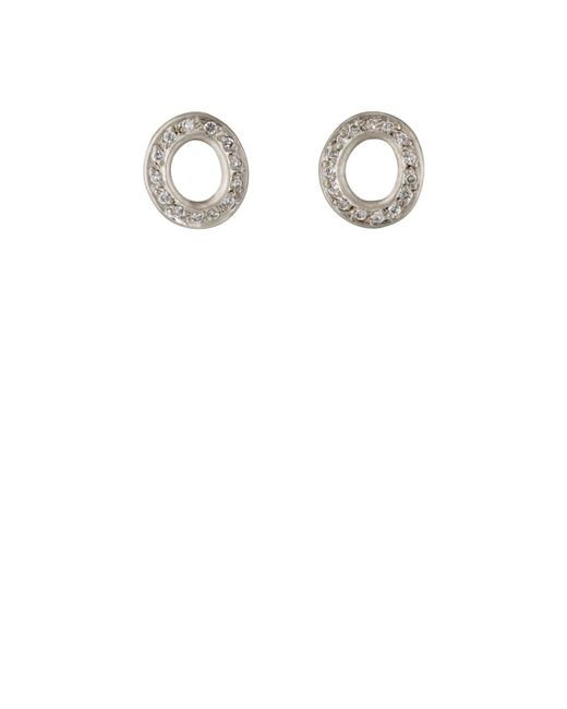 Malcolm Betts | Metallic Open Disc Stud Earrings | Lyst