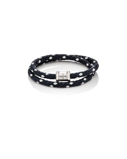 Miansai - Blue Leather Wrap Bracelet for Men - Lyst