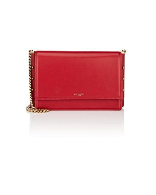 Saint Laurent - Red Zoe Leather Shoulder Bag - Lyst