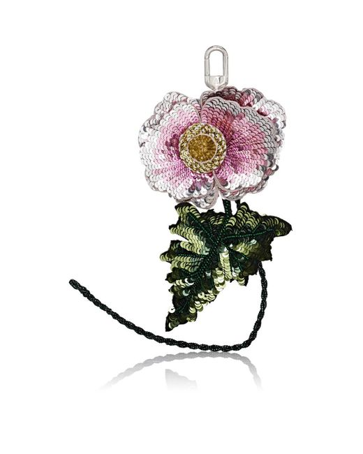 Altuzarra - Pink Sequined Flower Bag Charm - Lyst