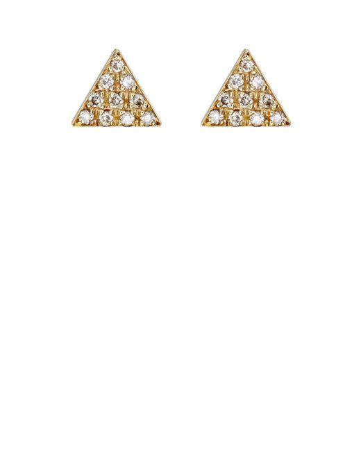 Jennifer Meyer | White Triangle Stud Earrings | Lyst
