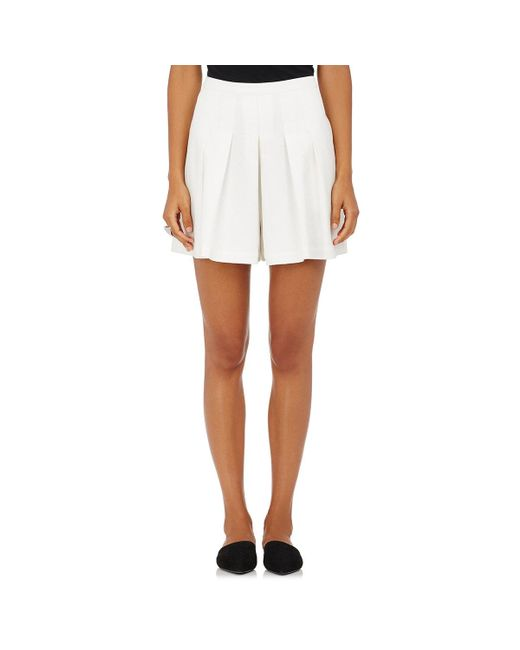 Robert Rodriguez | White Cotton Crepe Pleated Shorts | Lyst