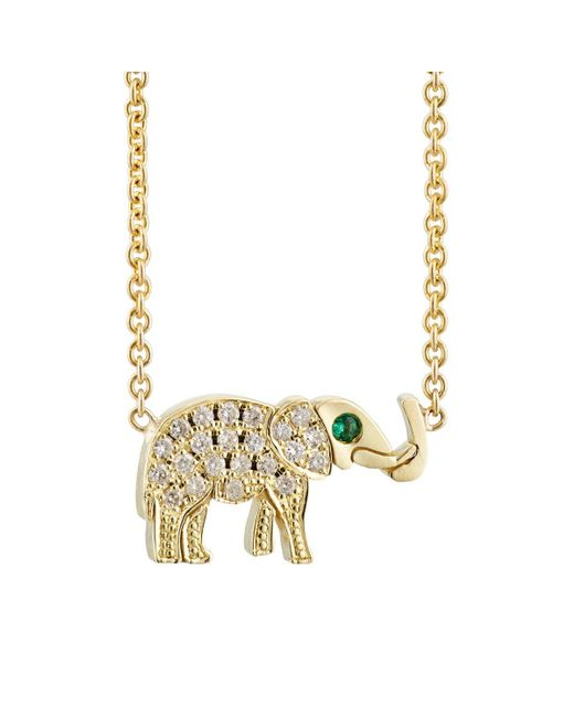 Jennifer Meyer | Metallic Elephant Charm Necklace | Lyst