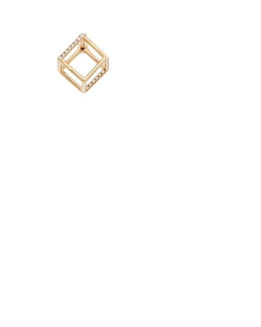 Shihara Womens 3D Diamond Square Earring zWK8xDG5Y
