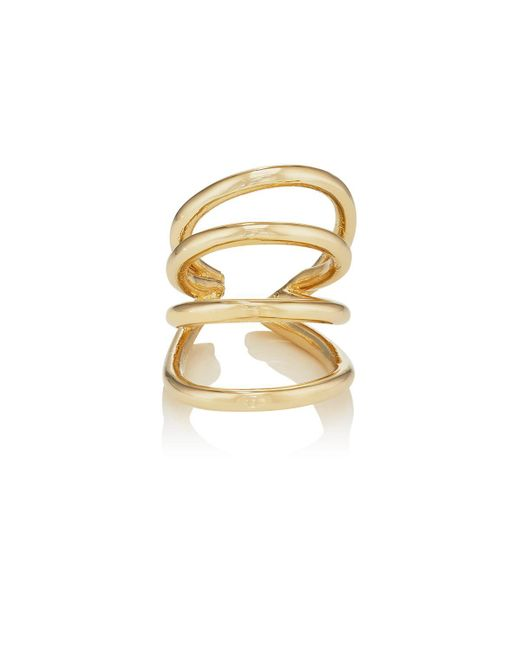 Jennifer Fisher | Metallic Overlap Circle Cuff Ring | Lyst