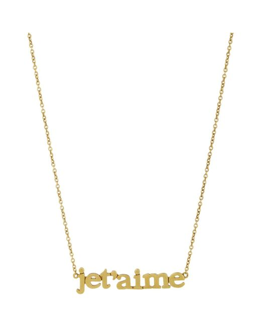 Jennifer Meyer | Metallic je T'aime Pendant Necklace | Lyst