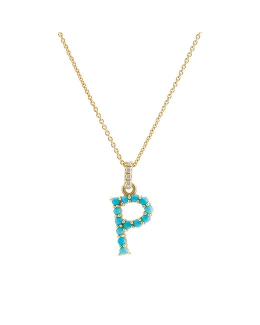 Jennifer Meyer - Metallic Initial Pendant Necklace - Lyst