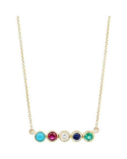 Jennifer Meyer | Metallic Bezel Pendant Necklace | Lyst