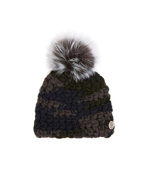 Mischa Lampert - Multicolor Pomster Fur-embellished Wool Beanie - Lyst