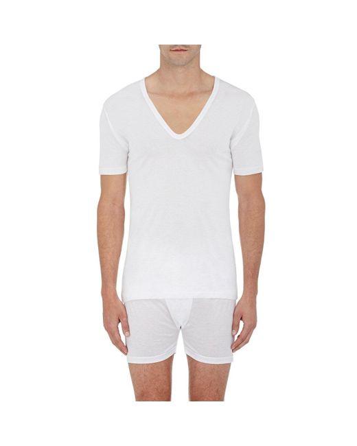 Zimmerli   White V-neck T for Men   Lyst