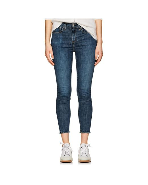 Rag & Bone - Blue High Rise Ankle Skinny Jeans - Lyst