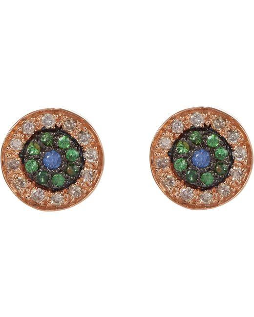 Ileana Makri - Blue Multi Gemstone & Pink Gold no Tears Studs - Lyst