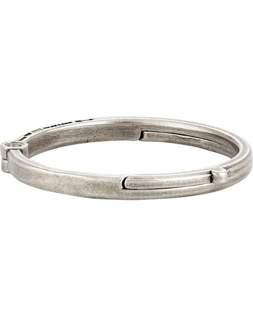 Giles & Brother - Metallic Latch Cuff Bracelet for Men - Lyst