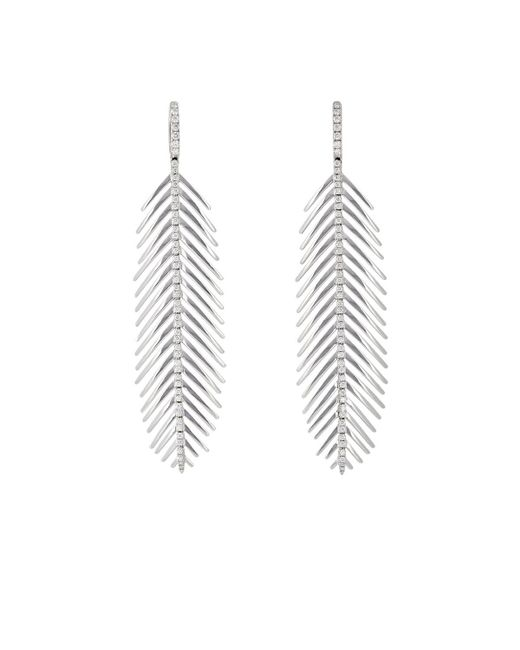 Sidney Garber   Metallic Feathers That Move Earrings   Lyst