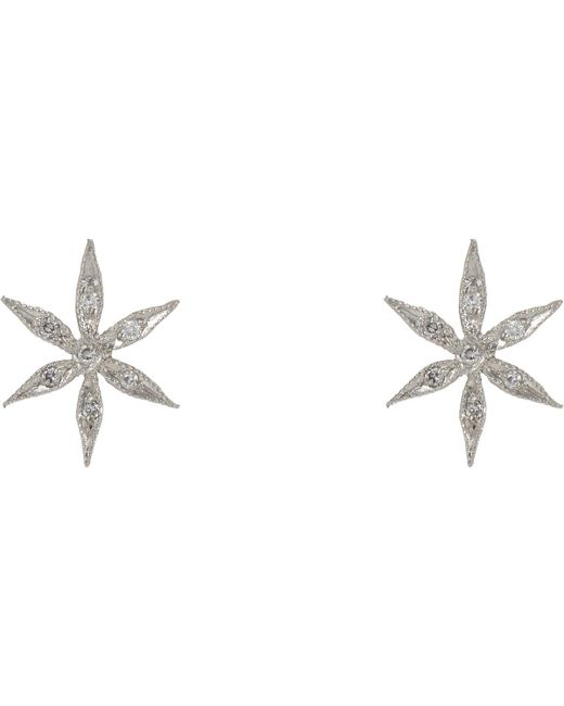 Cathy Waterman | Metallic Star Flower Studs | Lyst