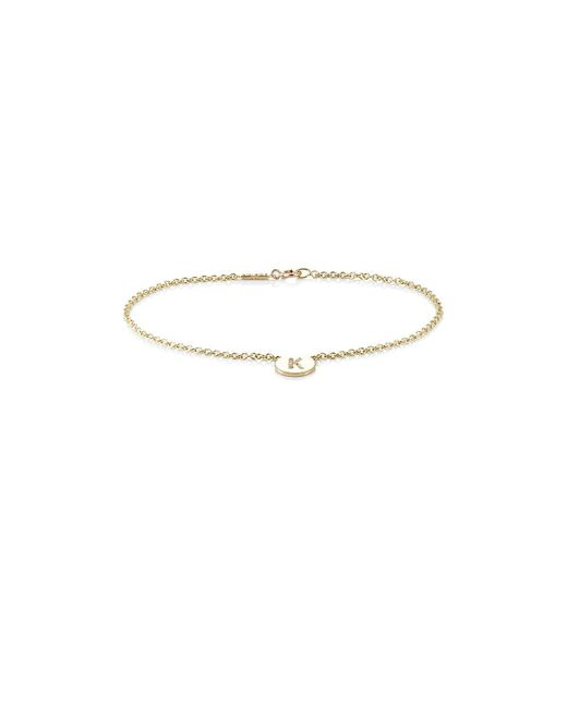 Jennifer Meyer - Multicolor Initial p Disc Bracelet - Lyst