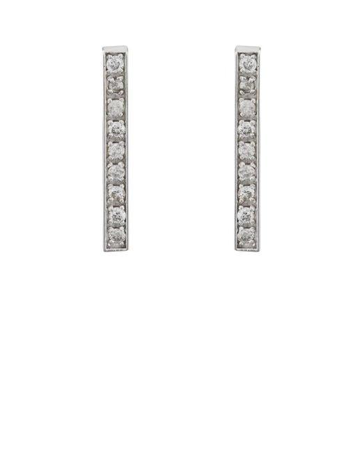 Jennifer Meyer - Metallic Pavé White Diamond Long Bar Stud Earrings - Lyst