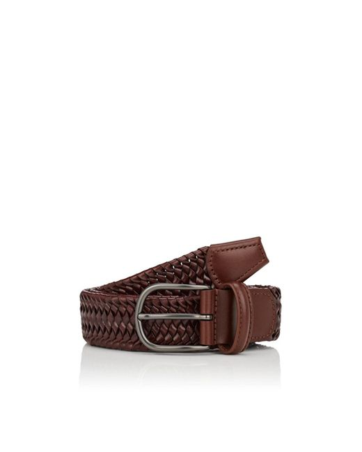 992be2594a084 Barneys New York - Brown Woven Leather Belt for Men - Lyst ...