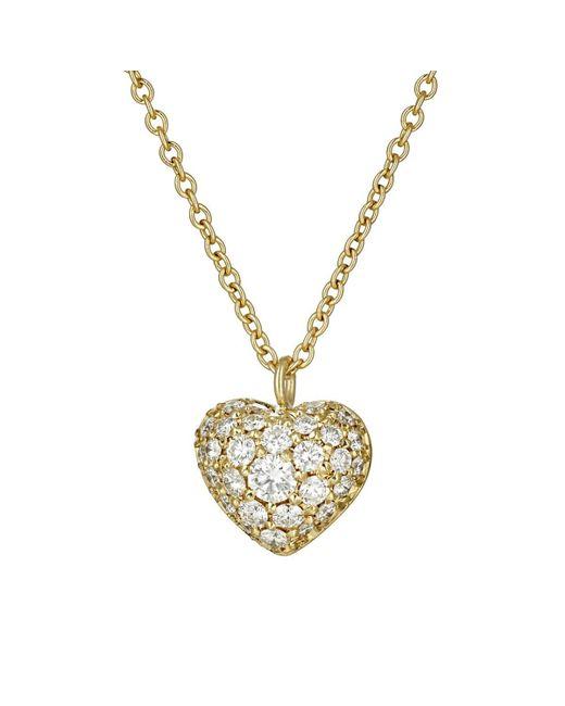 Finn - Metallic Puffed Heart Pendant Necklace - Lyst
