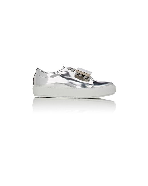 Acne | Metallic Adriana Specchio Leather Sneakers | Lyst
