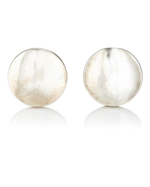Barneys New York | Metallic Silver Dome Disc Cufflinks for Men | Lyst