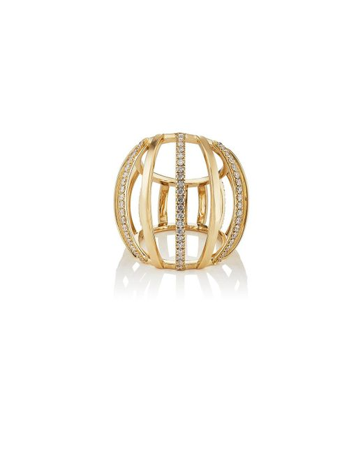 Dauphin | Metallic Collection I Cage Ring | Lyst