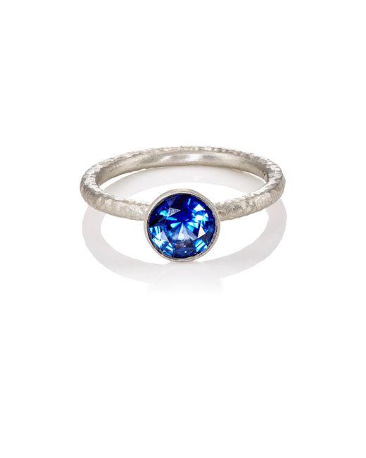 Malcolm Betts | Metallic Blue Sapphire Ring | Lyst