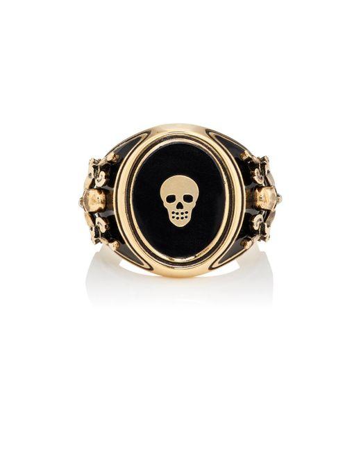 Alexander McQueen | Metallic Skull Signet Ring | Lyst