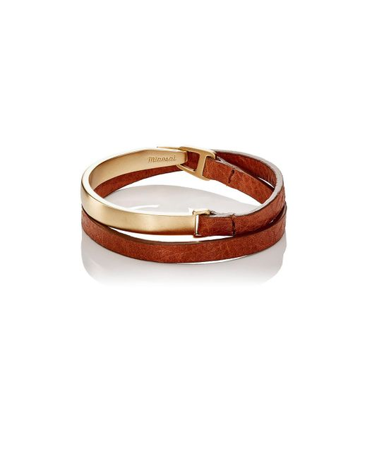 Miansai | Brown Moore Half Cuff Double | Lyst