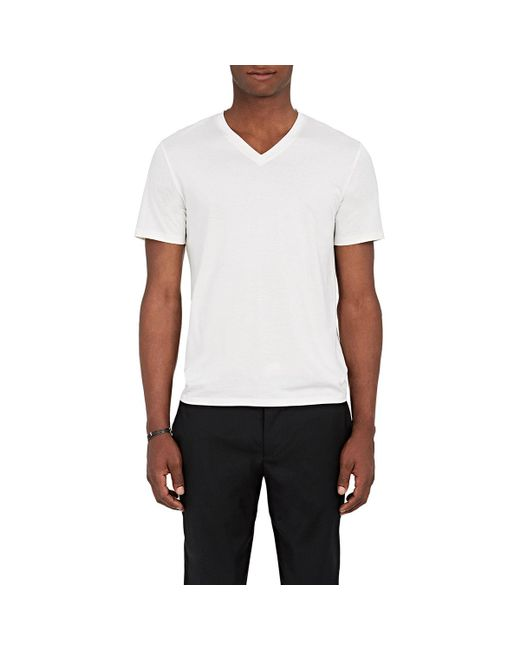 Theory | White Claey Plaito Silk-cotton T for Men | Lyst