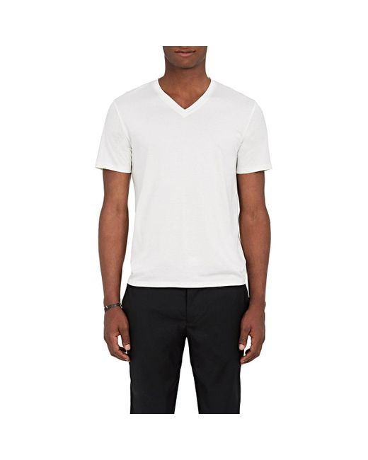 Theory - White Claey Plaito Silk-cotton T for Men - Lyst