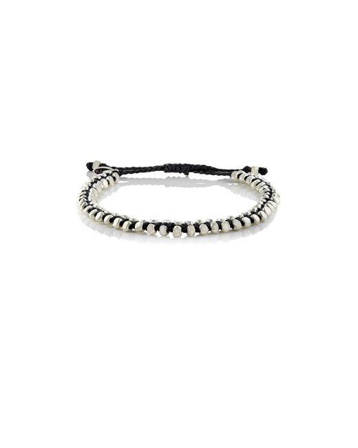 M. Cohen - Black Beaded Waxed Cord Bracelet for Men - Lyst