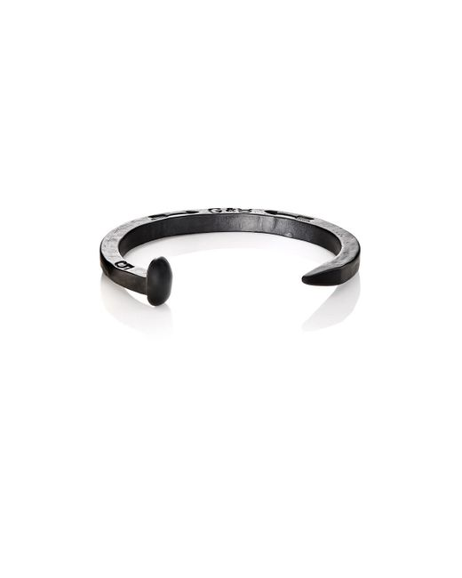 Giles & Brother - Black Railroad Spike Cuff for Men - Lyst